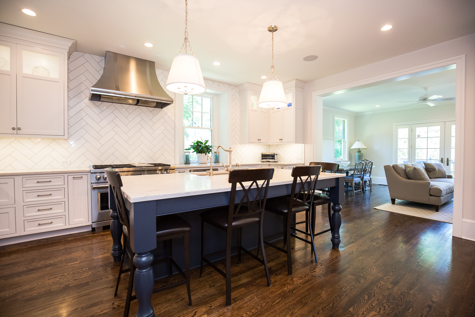 Runnymede- Wayne, PA- Navy and White Traditional Kitchen ...